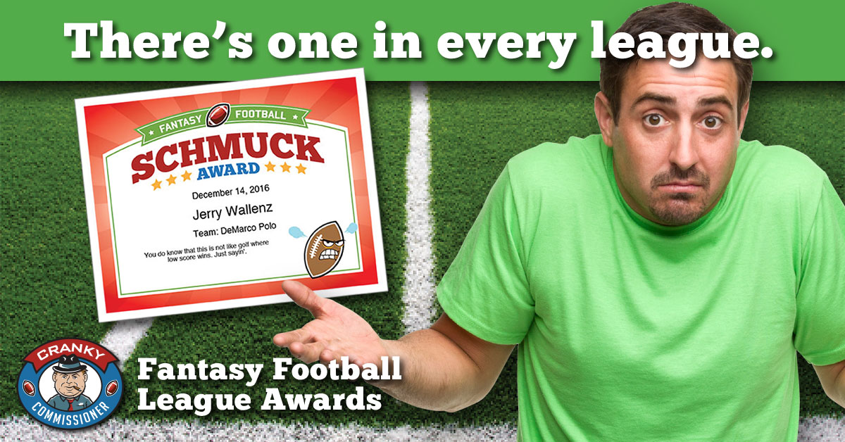225dd1140a8 Talk some smack and make the Commissioner proud. fantasy football awards  image