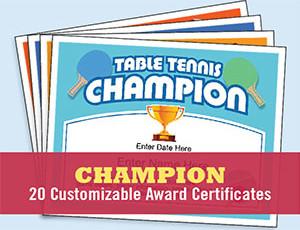 Champion Certificates