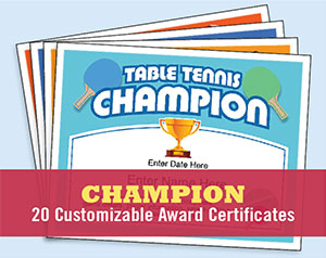 Champion certificates templates for ping pong darts golf etc champion certificates image yelopaper Choice Image