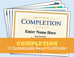 Certificate of Completion Bundle