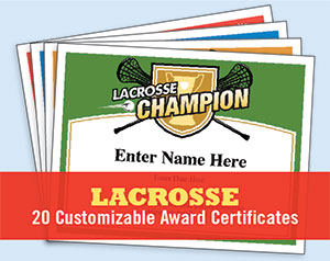 Lacrosse certificates templates award certificates boys girls lacrosse certificates yelopaper Gallery