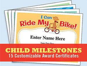 Child Certificates – Kids Milestones