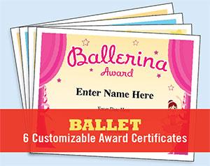 ballet certificate button