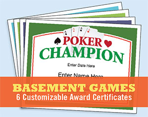 basement games certificates image
