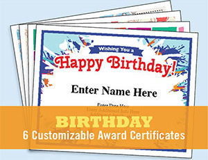 Birthday Certificate Templates  Free Award Certificate Templates