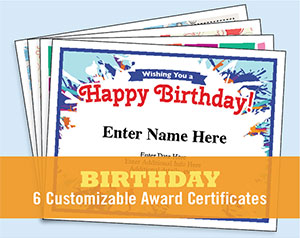 Happy Birthday Certificate Image  Happy Birthday Certificate Templates