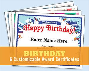 Happy Birthday certificate image