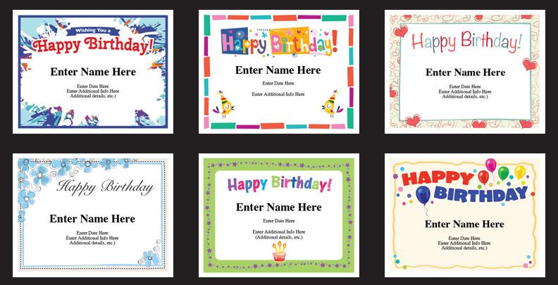 birthday certificate templates image