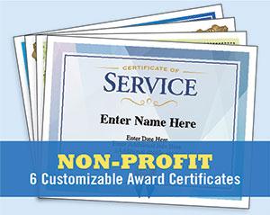 non profit award certificates image