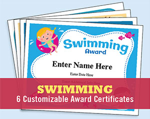 swim certificates templates button