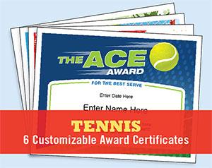 tennis certificates button