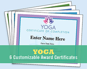 yoga certificate templates button